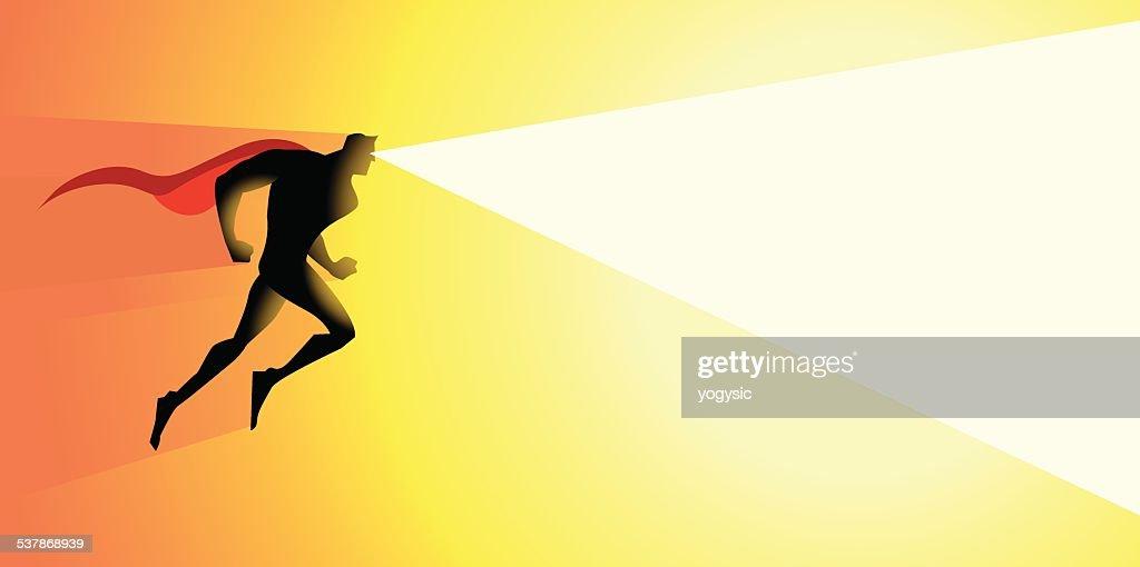 Vector Superhero Heat Laser Vision : stock illustration