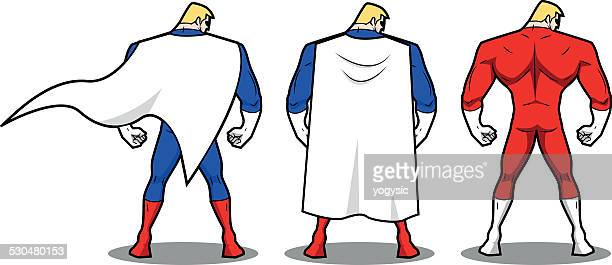 Vector Superhero Rear View