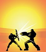Vector Superheroes Duel