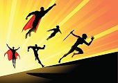Vector Superheroes Team Charge