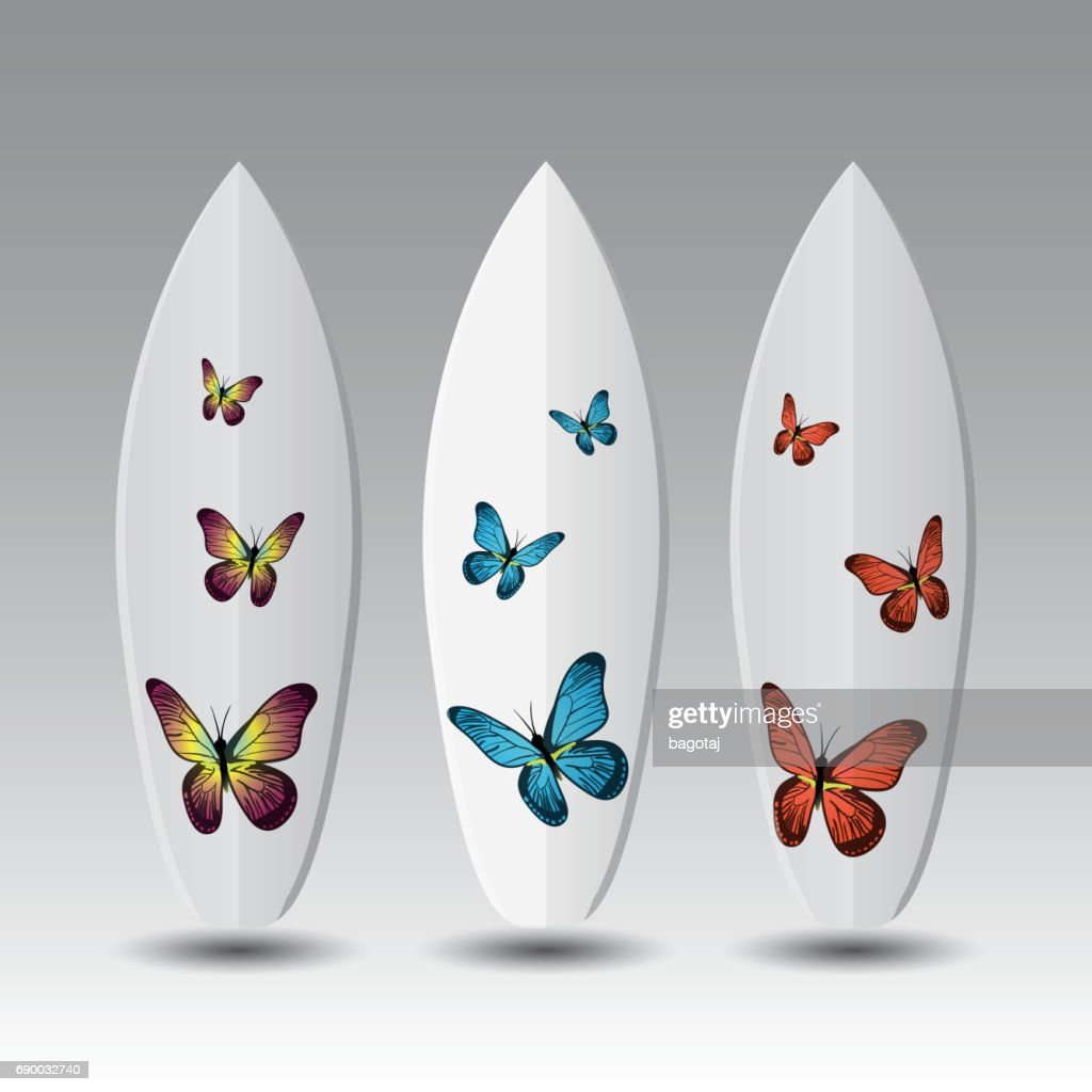 Vector Surfboards Design Template Stock Vector Getty Images