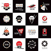 vector sushi icon