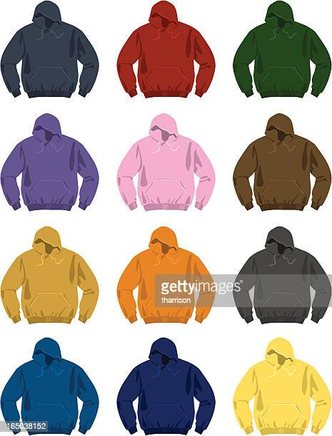 stockillustraties, clipart, cartoons en iconen met vector sweatshirts - fleecejas