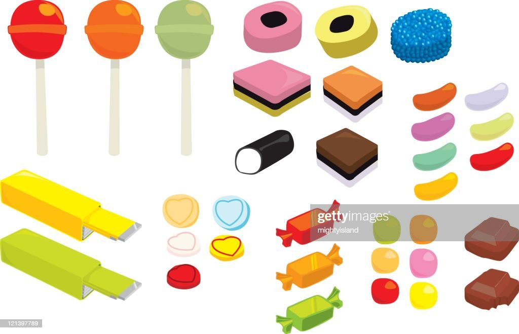 Vector Sweets and Candy