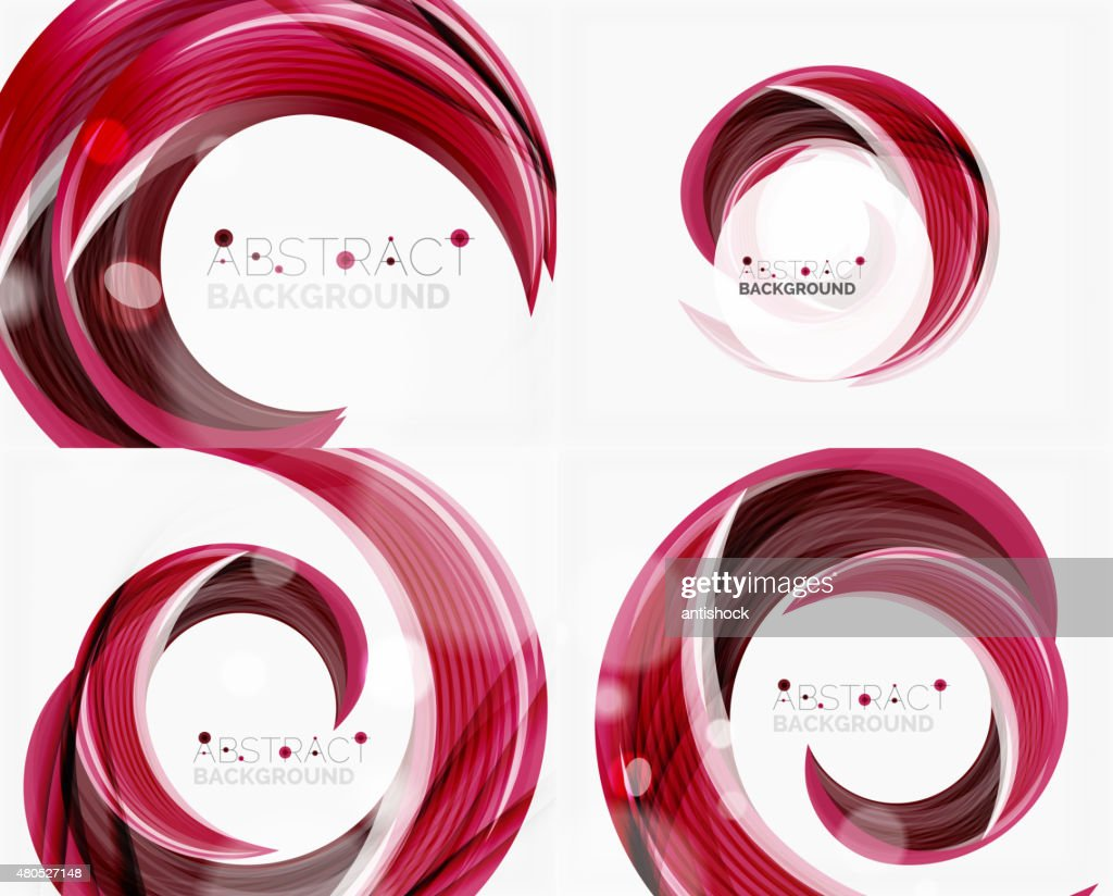 Vector swirl line abstract background : Vector Art