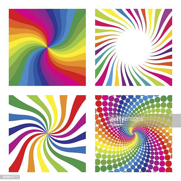vector swirl pattern background - rainbow stock illustrations, clip art, cartoons, & icons