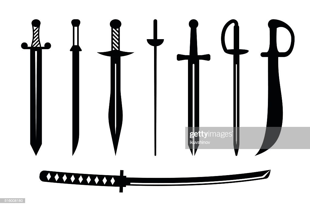 Vector sword ancient weapon design