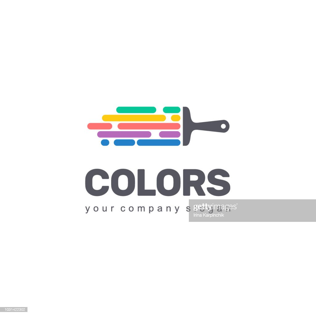 Vector symbol design of business. Colorful sign