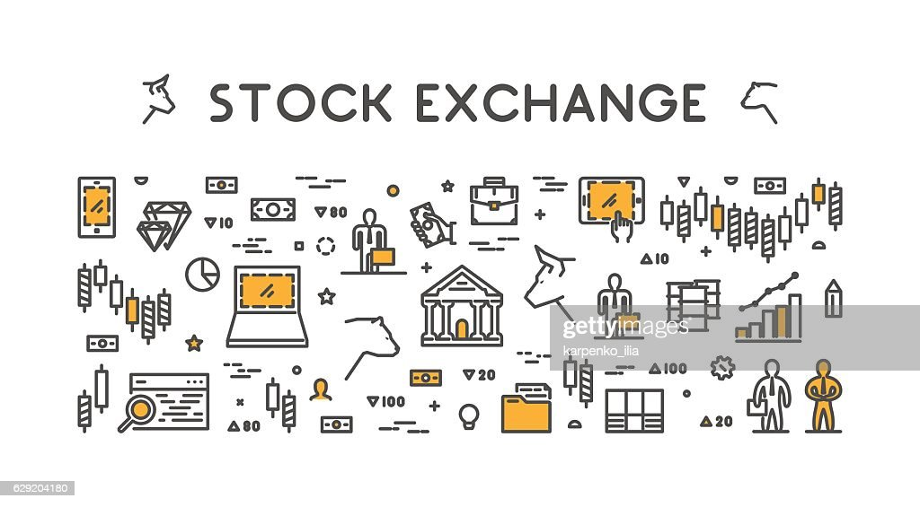 Vector Symbol For Stock Market And Stock Exchange Vector Art Getty