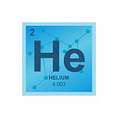 Vector symbol of helium on the background from connected molecules