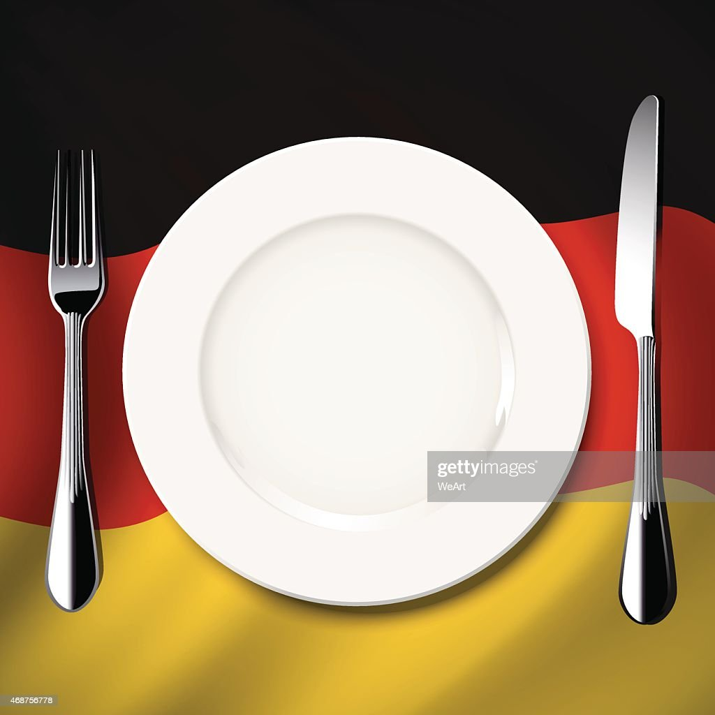 Vector  table setting on Germany flag background