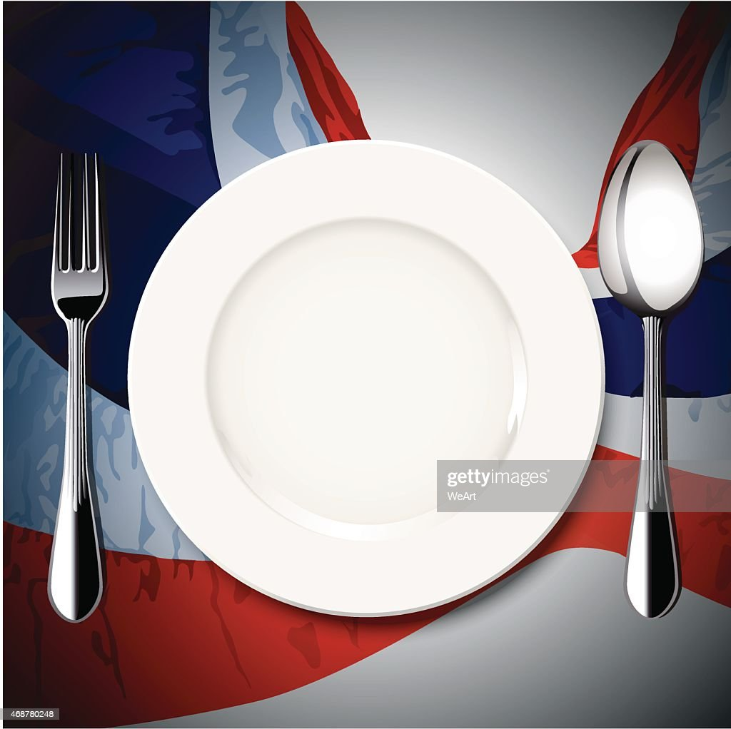Vector table setting on Thailand flag backgound