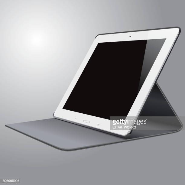 vector tablet pc - side view stock illustrations