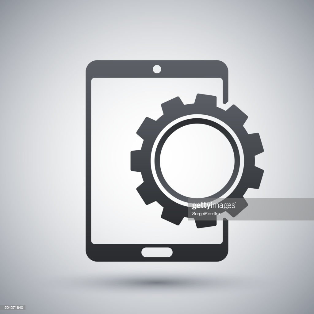 Vector tablet settings icon