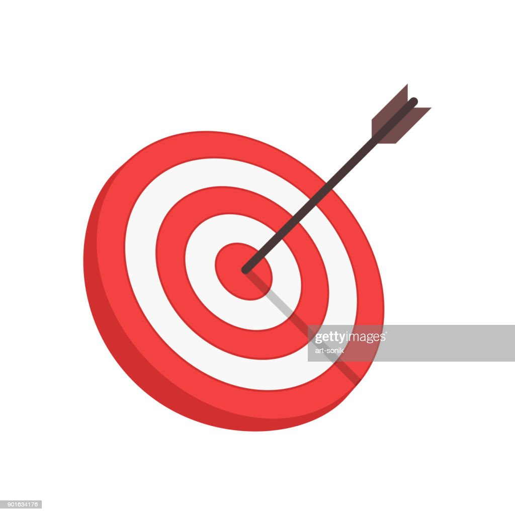 Vector target and arrow.