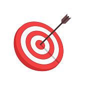 Vector target and arrow.