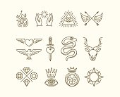Vector tattoo set