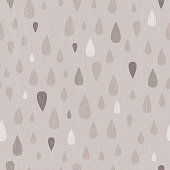 Vector Taupe Distressed Teardrop Raindrop Seamless Pattern Background