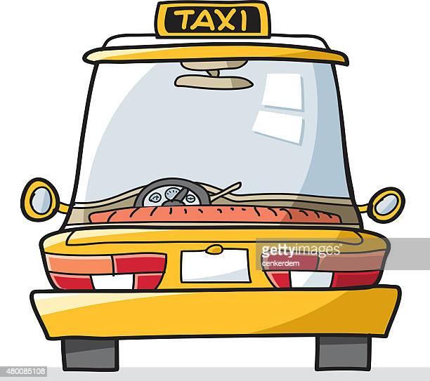 ilustraciones, imágenes clip art, dibujos animados e iconos de stock de vector taxi - taxista