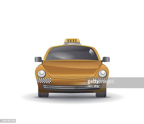 vector taxi - yellow taxi stock illustrations, clip art, cartoons, & icons