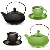 Vector Teapot and Cup