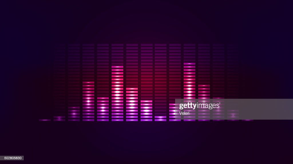 Vector techno background with vibration sound. Equalizer