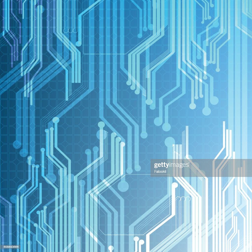 Circuit Board Background Vector Technological Illuminated Art
