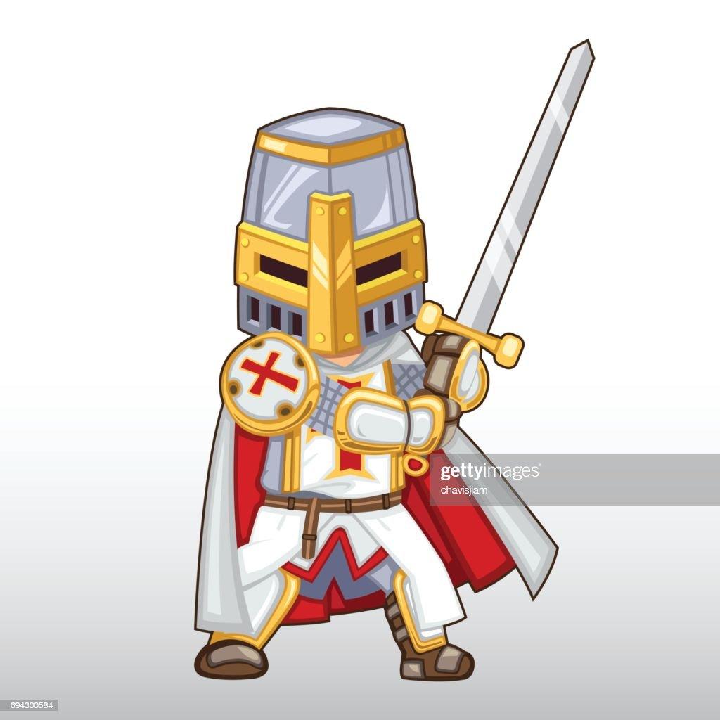 Vector Templar Knight Illustration