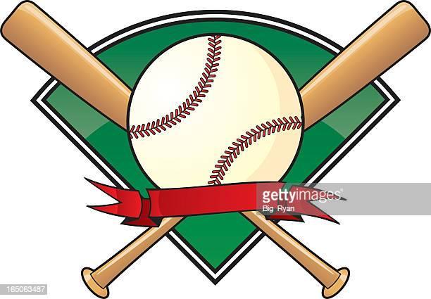 A vector template for a baseball