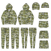 Vector template for Camouflage style garments
