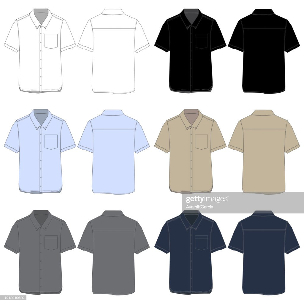 Vector template for Work shirts