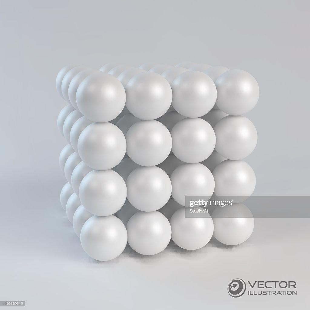 A vector template of a 3D concept