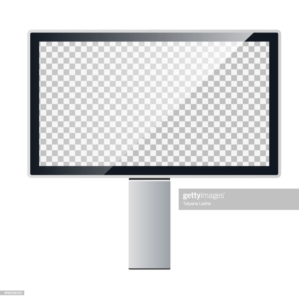 Vector template of a billboard. Outdoor advertising. Light box.