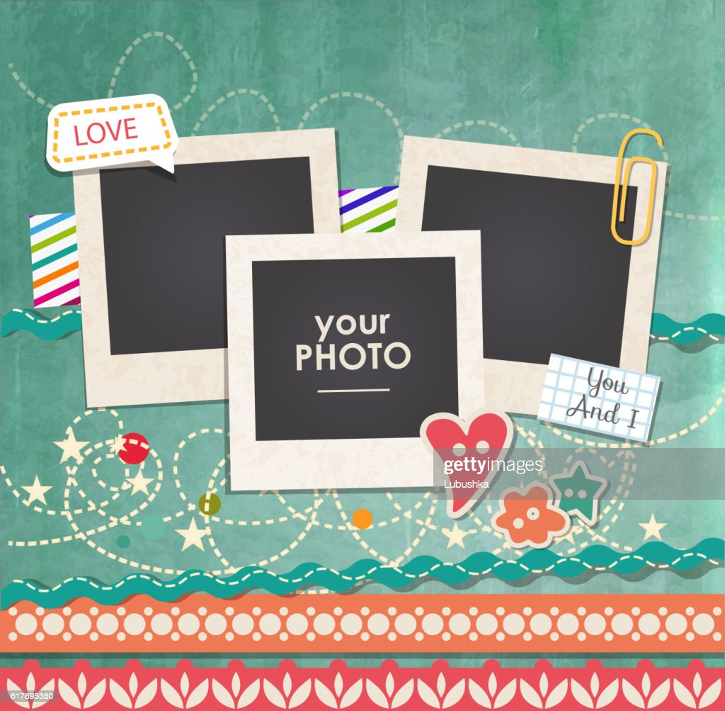 Vector template photo frame