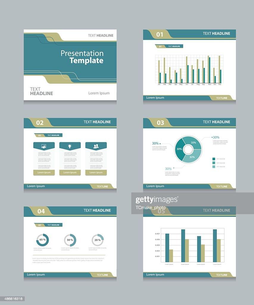 vector template presentation slides background design vector art