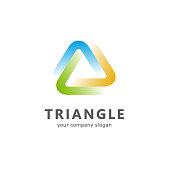 Vector template triangle icon