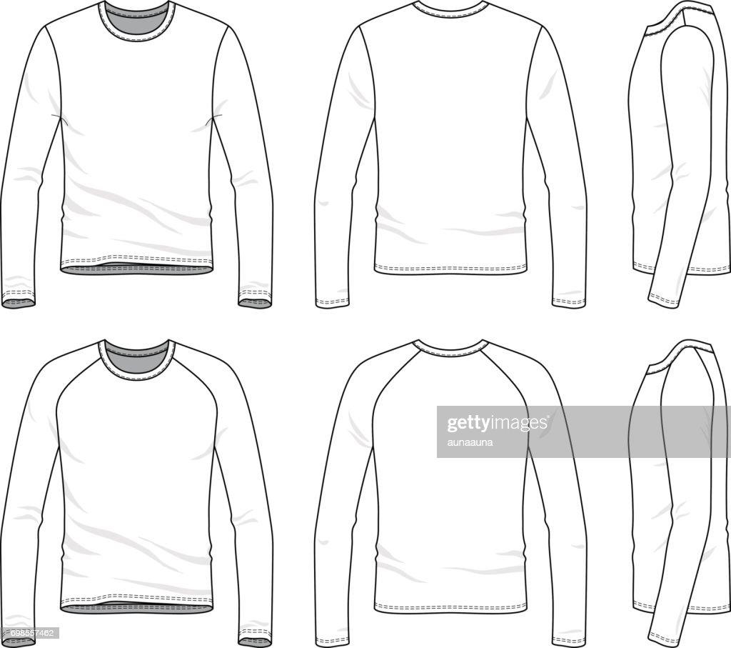 Vector templates of blank tee