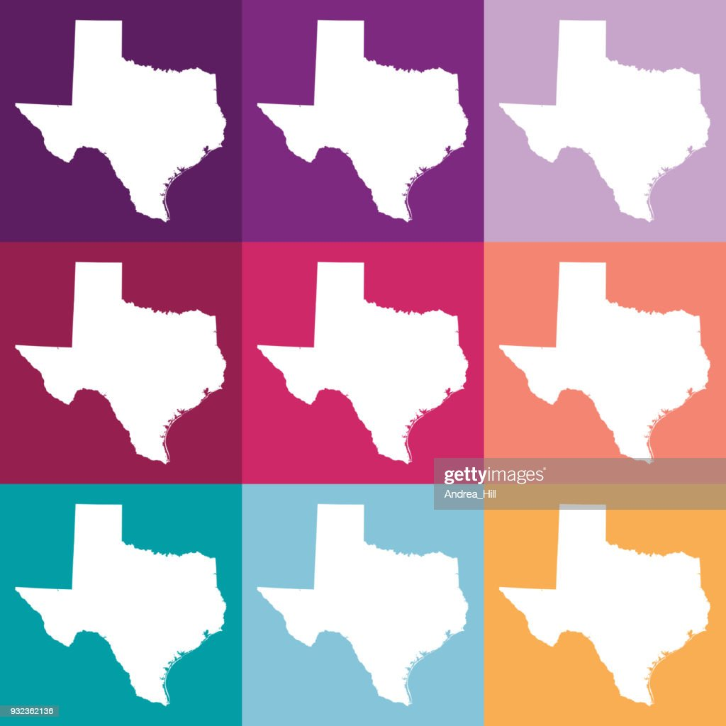 Vector Texas Usa Map In Muted Colors Vector Art Getty Images