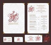 vector thai food restaurant menu template..