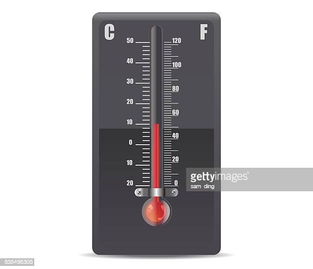 ilustraciones, imágenes clip art, dibujos animados e iconos de stock de vector termómetro - termometro mercurio