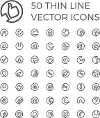 Vector Thin Line Icons