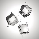 Vector. Three ice cubes. EPS10.