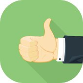 Vector Thumbs Up Icon.