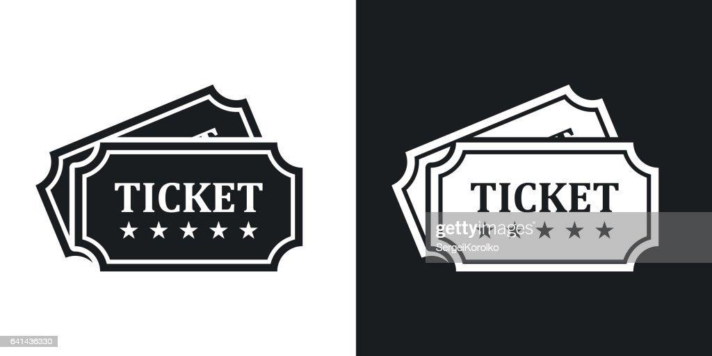 Vector tickets icon. Two-tone version