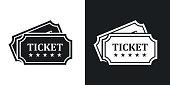 Vector tickets icon. Two-tone version