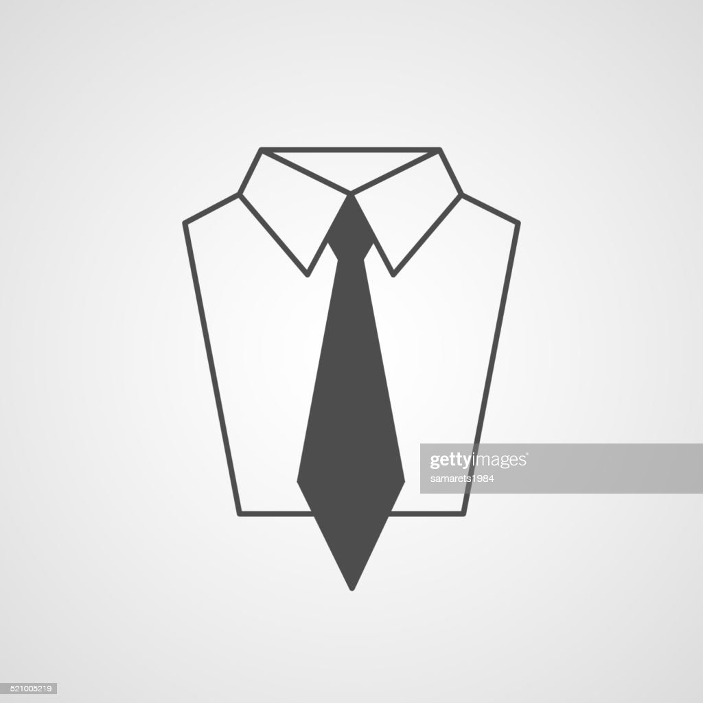 Vector tie and shirt design icon. Business flat symbol concept.