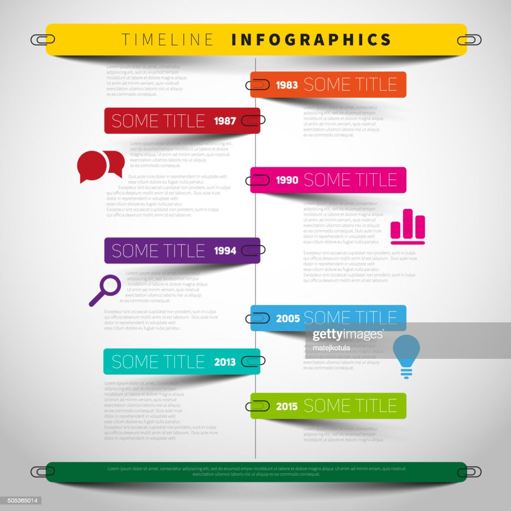 Vector timeline Infographic report template