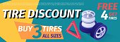 Vector Tire Sale out Banner, Discount Template