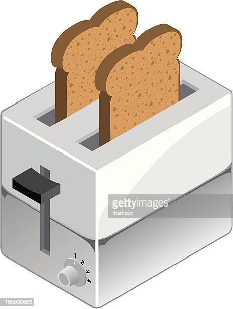 Vector Toaster with Toast