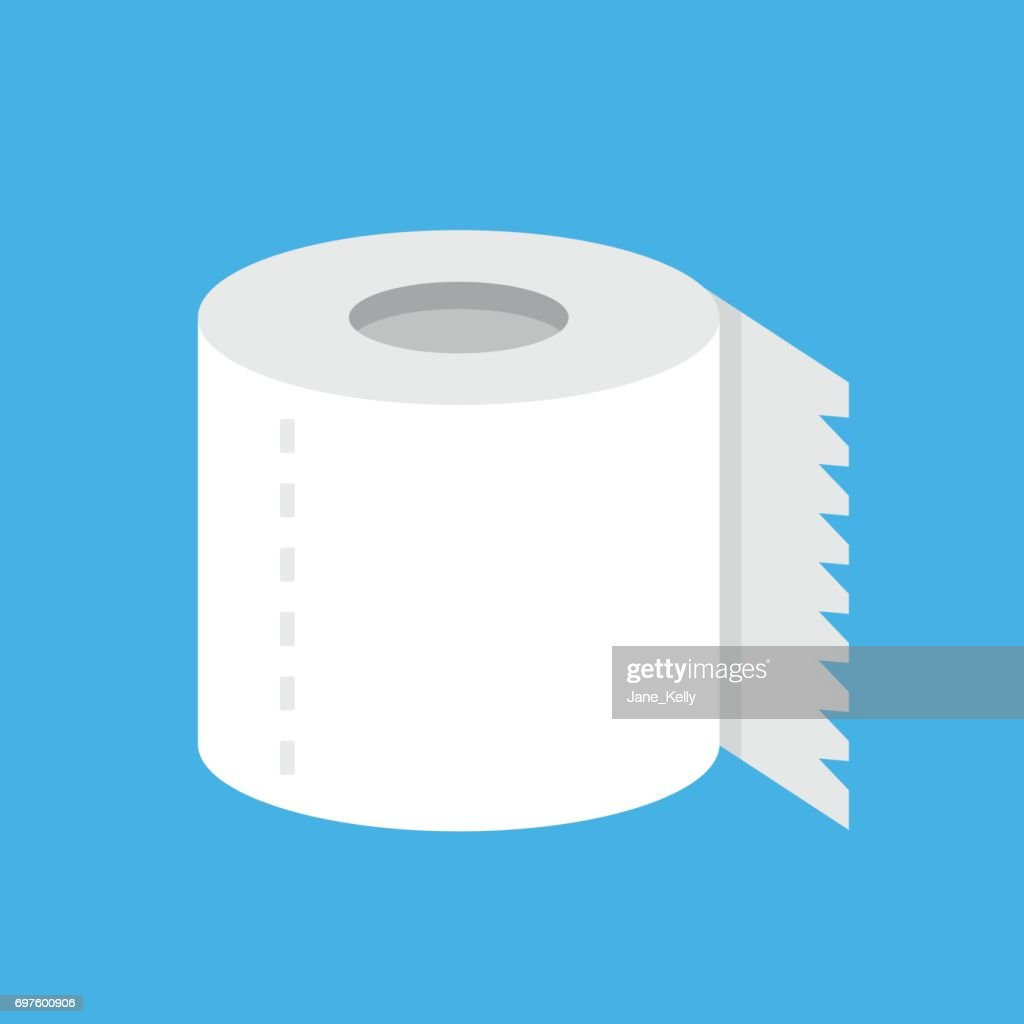 Vector toilet paper roll. Flat design. Modern vector icon